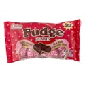 Valentine Candy Fudge Filled Hearts 5oz Bag Foil Wrapped Pdq