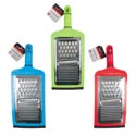 Grater Hand Carded True Living 3 Asst Colors Red, Green, Blue