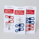 Clips Mini 4pk All Purpose Assorted Colors Carded *1.99*