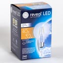 Light Bulb Led G25 3.2w = 40w Ge Reveal Med Base *6.99* Boxed Long Life/low Energy Dimmable