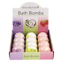 Bath Bombs 5oz 4-12pc Displays 3 Asst Strawberry, Lavendar, & Coconut