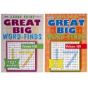 Word Finds Great Big 96 Pages 2 Asstd In 120 Ct Floor Display Ppd $4.95 Made In Usa