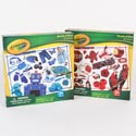 Puzzle 24pc Crayola Red &n Blue Asst World Of Color Pdq