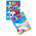 Color/activity Book Bilingual Aviones 2 Asst In 24pc Pdq