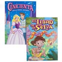 Coloring Book Bilingual Fairy Tale 2 Assorted In Pdq Cinderella/junglebook