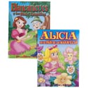 Coloring Book Billingual Fairy Tale 2 Assorted In Pdq Snow White/alice In Wonderland