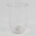 Vase 8in Hurricane Adorn Glass Clear #2702