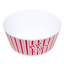 Popcorn Bowl Round Red/white Striped 10.25d X 4.75h In Pdq 142g 5.05 Oz