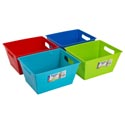 Bin Rectangular 10 X 8 X 5 4 Asst Colors In Pdq #17859