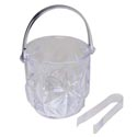 Ice Bucket With Handle And Tongs Clear 4.75d X 5h In Pdq