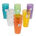 Tumblers Glass-look 6 Colors 3pk 8 Oz In A White Pdq
