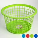 Basket Mini Round 16.5 Inch Dia 9.65 Inch Tall 4 Colors Poly Bag #1416