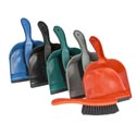 Dust Pan W/brush & Rubber Lip 8.5in 5 Colors #dp002
