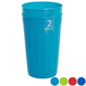 Tumbler Plastic 2pk 30.1 Oz 4asst Colors Case Cut Display