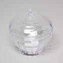 Candy Dish 2pc 5.5d X 6h Clear Cut Glass Look Plastic Material Plastic
