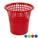 Waste Basket 11-1/4d X 10-1/2h 4 Col Solid Bottom/slotted Top