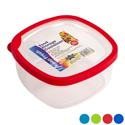 Food Storage Container 71 Oz Sq W/rubber Edge On Lid 4 Col #bw0137