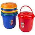 Bucket W/lid & Handle 2.9 Gal. 10.5d X 11.5h 6 Colors #eco 511