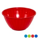 Serving Bowl With Emboss Stripes 6.25 Qt 4 Colors 11.5x6 In Pdq