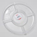 Tray 5 Section Round 10-3/4 Dia Clear Crystal Look In Pdq