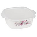 Food Storage Container Flat Lid 1.5 Qt Floral Grip Handle In Pdq #1451