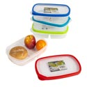 Food Storage Container Rect 2 Section W/rubber Rim On Lid 9.5l X 6.25w X 2.25h 4 Colors