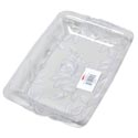 Serving Tray W/embossed Roses & Leaves Clear In White Pdq #193 2.75l X 8.5w X 1.5h 175g