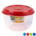 Food Storage Container 2.5 Qt 4 Lid Colors / Clear Bottom 139g #fiesta 2500