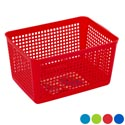 Storage Basket Rect. Slotted 4 Colors In Pdq #glory 102 10 X 7.25 X 5.75