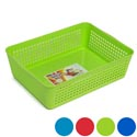 Storage Basket Rectangular Slotted 4 Colors In Pdq 12 X 8.66 X 3.44 #glory 103