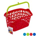 Basket W/plastic Handle & Hook 3 Colors 10x7x5.5 In Pdq Melody