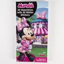 Valentine Cards 32ct Minnie Mouse Glitter Sctickers *2.99*