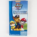 Valentine Cards 32ct Paw Patrol W/tattoos *2.99* Boxed