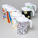 Pitcher 56 Oz With Sliding Spout On Lid 6 Assorted Design