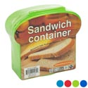 Sandwich Container W/hinged Top 4 Colors In Pdq