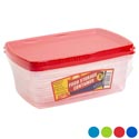 Food Storage Container Rect 2pk 4 Color Lids/clear Bottom In Pdq #sweety Box