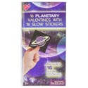 Valentine Cards 16ct Glow In The Dark Stickers Planetary *2.99*