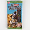 Valentine Cards 27ct Lenticular Stickers Go Wild *2.99* Boxed