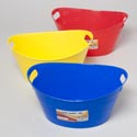 Toy Tub With Handles 5.25x12.5 3 Primary Colors In Pdq #oval Handy