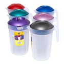 Pitcher Large With Lid 5 Qt 6 Metallic Lids/frosted Bottom #rakhi-500