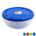 Food Storage Bowl Lg 6.5 Litre/ 6.875 Qt 6 Metalic Lid Colors Clear Bottom #dolly Fresh Large