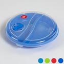 Microwave Divided Plate/cover Set W/vent In Pdq 6 Asst #3010