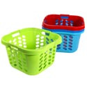Laundry Basket Square With 3 Handles 6 Colors #0626 19.25l X 18.66 X 12.2
