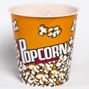 Popcorn Bucket Theater Style Plastic 7x7.5 Round In Pdq ** No Amazon Sales **