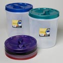 Food Storage Container Screw Top 15 Qt 6 Metallic Lid Colors Clear Btm #roto O Fresh 150000