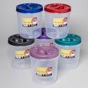 Food Storage Container Screw Top 3 Qt 6 Metallic Lid Colors Clear Btm #roto O Fresh 3000