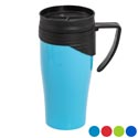 Travel Mug 15 Oz. W/twist Lid 4 Asst Colors In Pdq #227026 Twist Lid