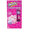 Valentine Cards 27ct Shopkins Lenticular Stickers *2.99*
