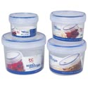 Food Storage Container 8pc Set Lock N Store