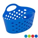 Basket Soft Plastic Dual Handle 4 Asst Colors 12 X 6.5 X 7.5 Counter Display #227103